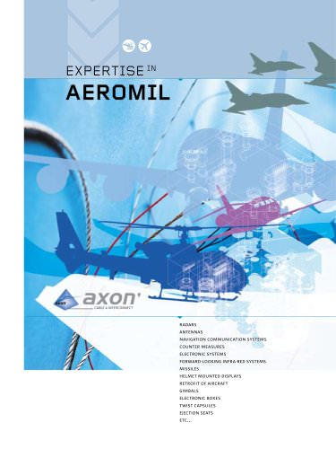 Expertise in aeromil : wires, cables, connectors and assemblies