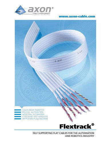 Flextrack, self supporting flat cables for the automation and robotics industry