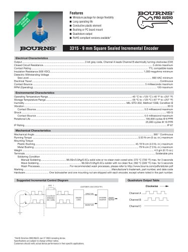 Contacting Encoders 3315