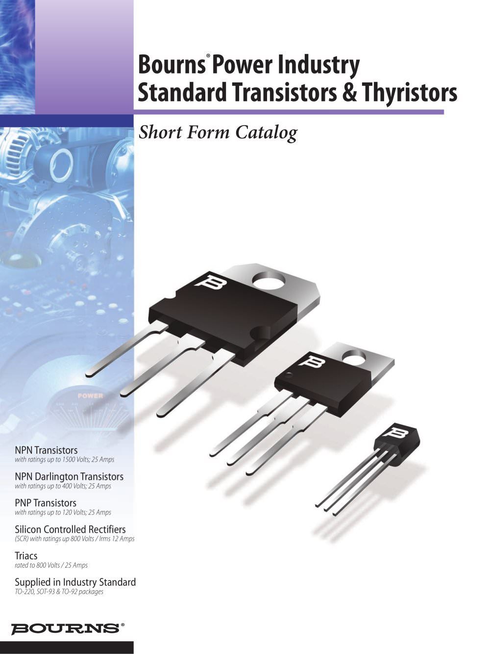 Power Industry Standard Transistors Thyristors Bourns Pdf Protection Circuit For Thyristor Images 1 8 Pages