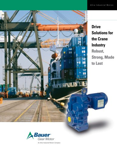 Drive Solutions for the Crane Industry