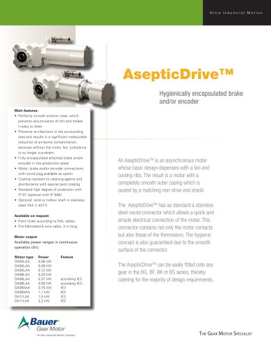 Fact Sheet Aseptic Drive TM
