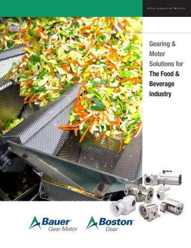 Gearing & Motor Solutions for The Food & Beverage Industry