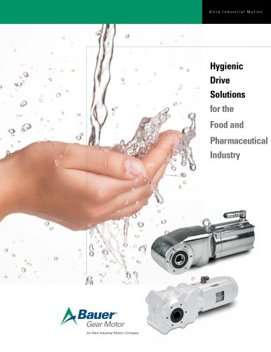 Hygienic Drive Solutions for the Food and Pharmaceutical Industry