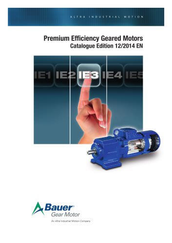 Premium Efficient Geared Motors (IE3)