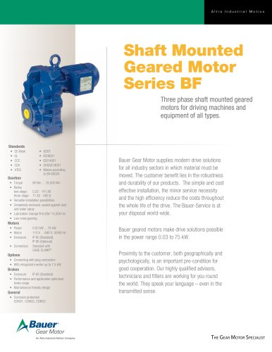 Shaft Mounted Geared Motor Series BF