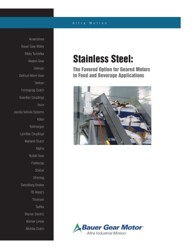 Stainless Steel: The Favored Option for Geared Motors in Food and Beverage Applications