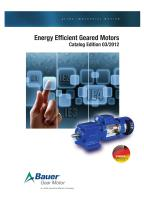 US Catalogue BAUER B2010 Energy Efficient Geared Motors - 1