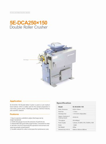 CKIC 5E-DCA250x150 Double Roller Crusher