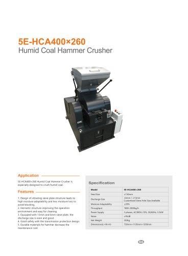 CKIC 5E-HCA400×260 Humid Coal Hammer Crusher