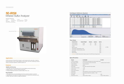 CKIC 5E-IRSII Infrared Sulfur Analyzer Sulfur analyzer / coal / combustion / infrared absorption