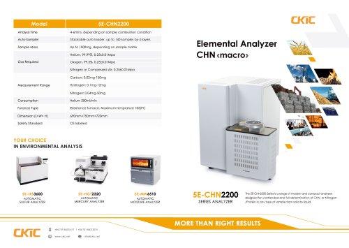 CKIC 5E Series Carbon Hydrogen Nitrogen CHN Analysis