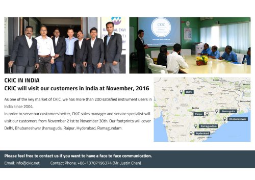 CKIC Visits Customer in India
