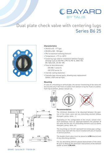 Dual Plate Check Valves
