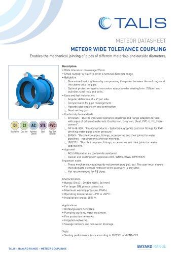 METEOR WIDE TOLERANCE COUPLING