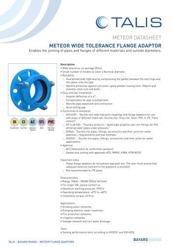 METEOR WIDE TOLERANCE FLANGE ADAPTOR