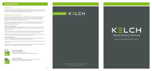KELCH Smart Factory Services