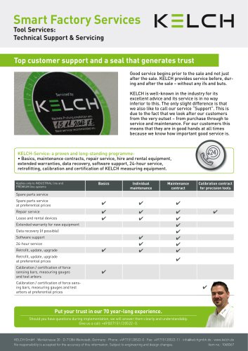 KELCH Smart Factory Services - Technical Support & Servicing