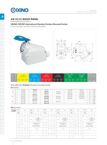IEC 60309 Surface Mounted Socket
