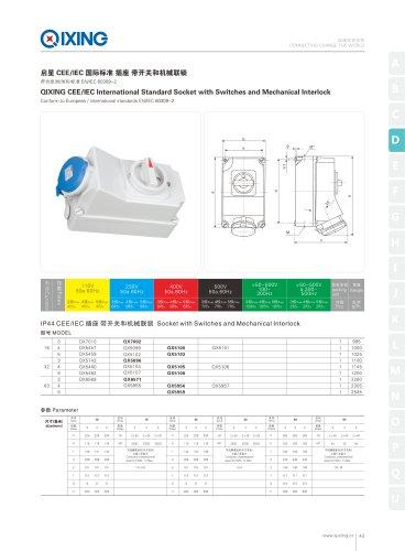 isolator socket 16A 32A 220-240V 3P IP44 Industrial