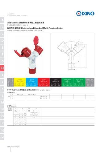 QIXING CEE/IEC International Standard  Multi-Functional socket