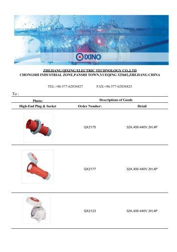 QIXING CEE/IEC International Standard Reefer Plugs