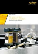 Klübermatic lubricant dispenders - We have a system for effective lubrication