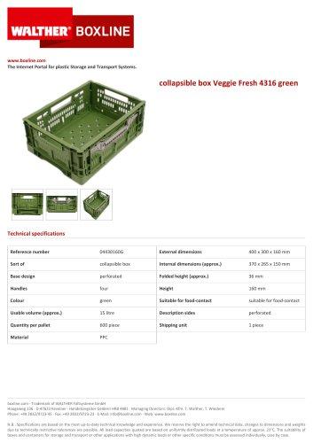 collapsible box Veggie Fresh 4316 green
