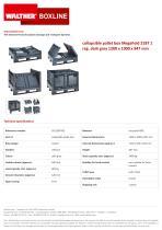 collapsible pallet box MegaFold 2187 1 reg. dark grey 1200 x 1000 x 847 mm
