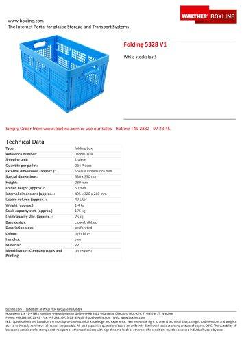 Folding 5328 V1