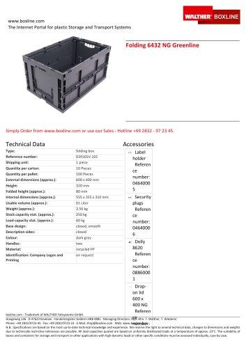 Folding 6432 NG Greenline