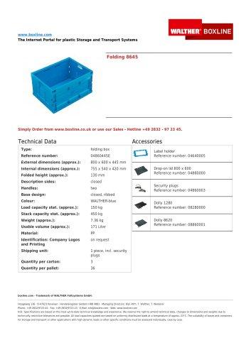 Folding 8645