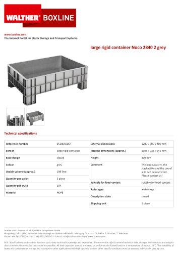 large rigid container Noco 2840 2 grey