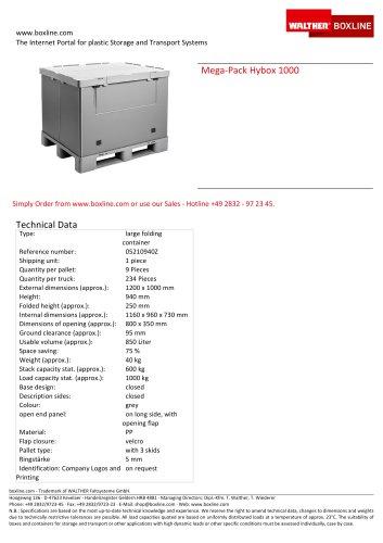 Mega-Pack 1000 Hybox