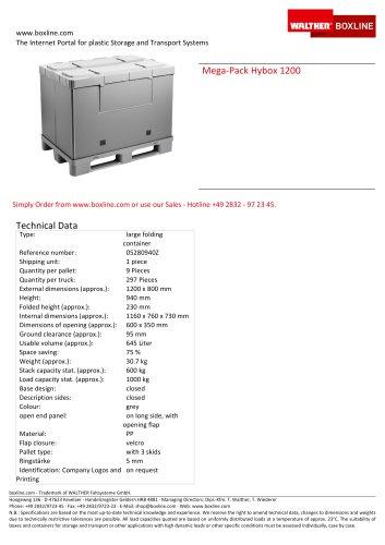 Mega-Pack 1200 Hybox