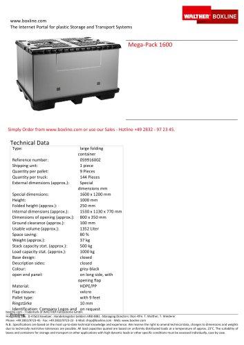 Mega-Pack 1600