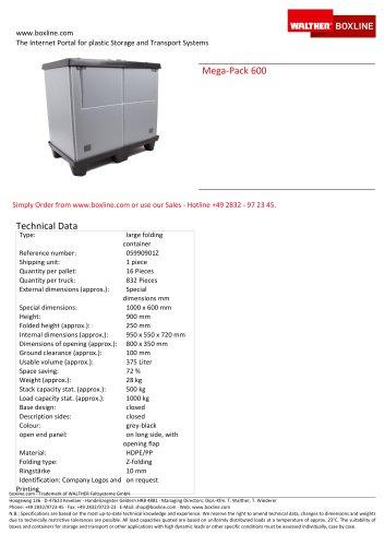 Mega-Pack 600