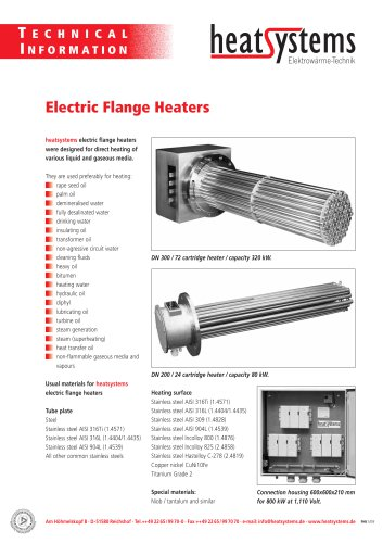 Electric flange heaters