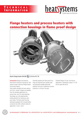 flange heaters and process heaters