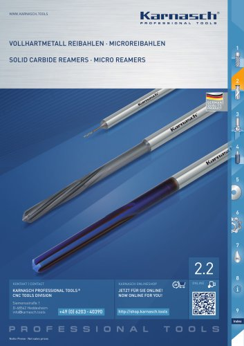 SOLID CARBIDE REAMERS