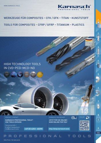 TOOLS FOR COMPOSITES- CFRP/GFRP, TITANIUM, PLASTICS
