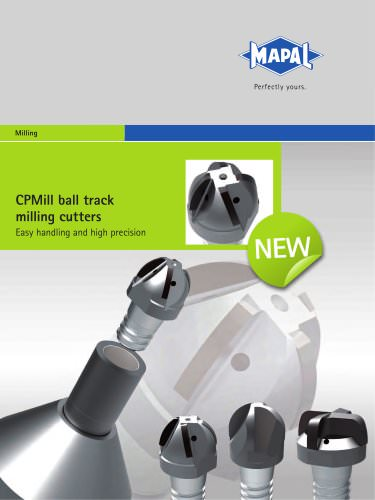 MAPAL CPMill ball track milling cutters