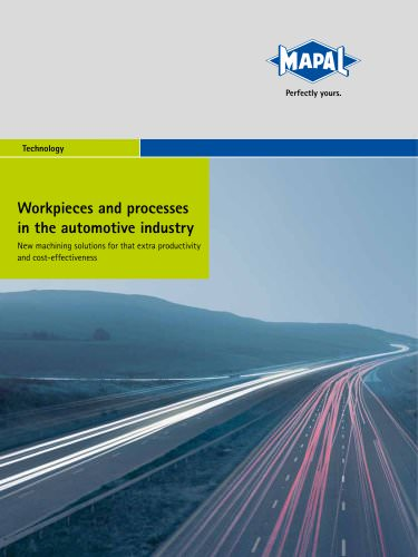 """MAPAL Technology """"Workpieces and processes in the automotive industry"""""""