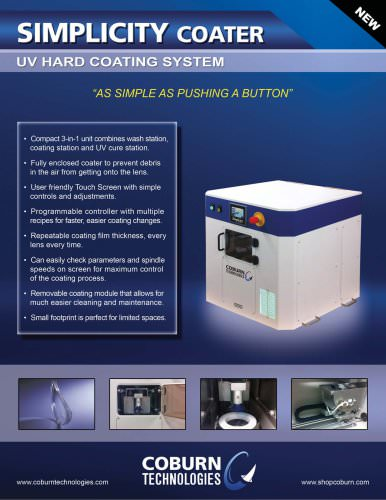 Simplicity UV Coating System