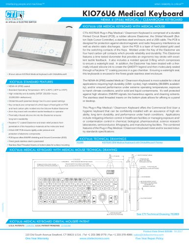 KIO76U6 Medical Keyboard
