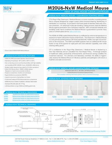 M20U6-NxW Medical Mouse