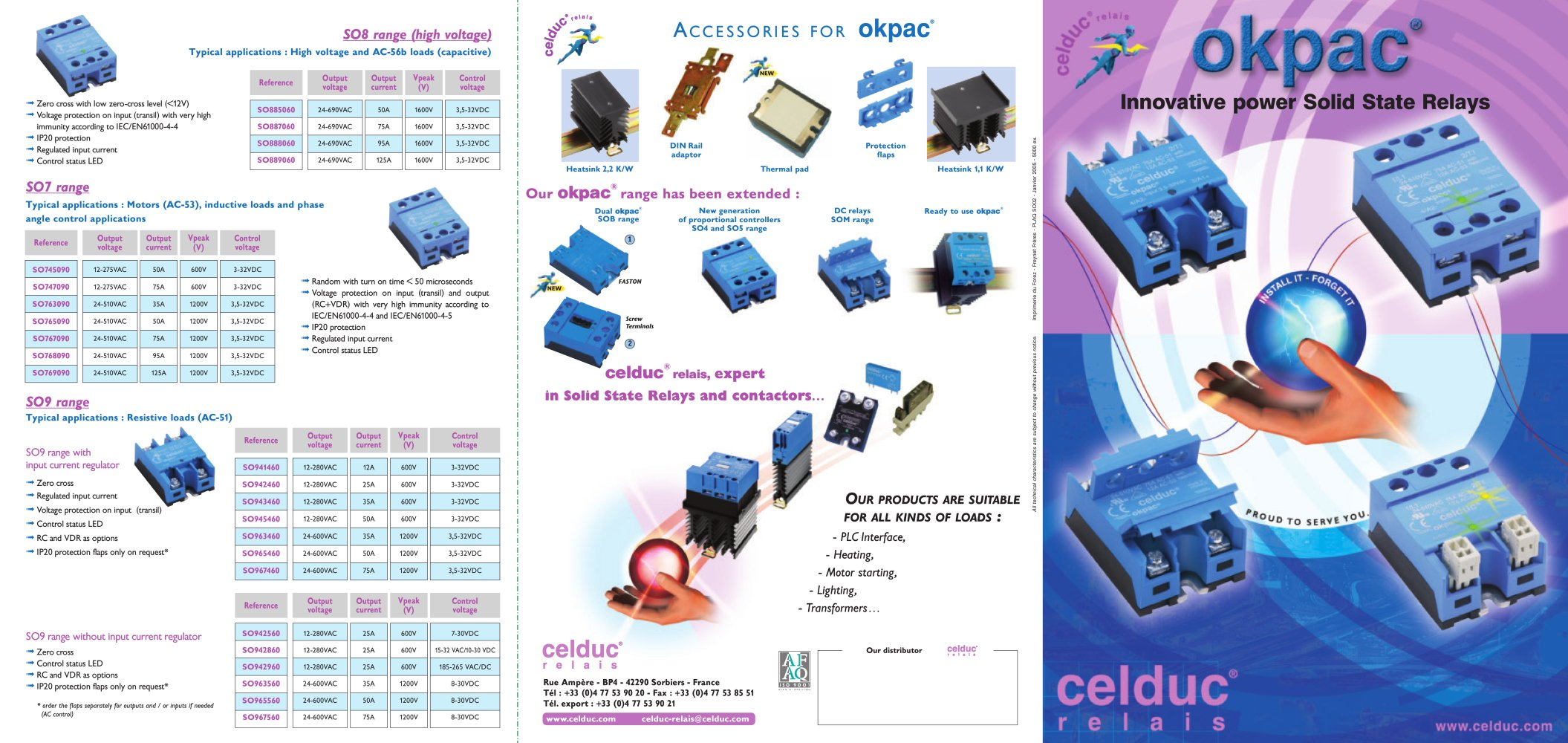 Okpac Solid State Relays Celduc Relais Pdf Catalogue Technical Three Phase Relay Block Diagram 1 2 Pages