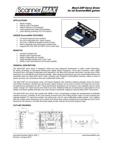 Mach-DSP Servo Driver - Pangolin Laser Systems - PDF