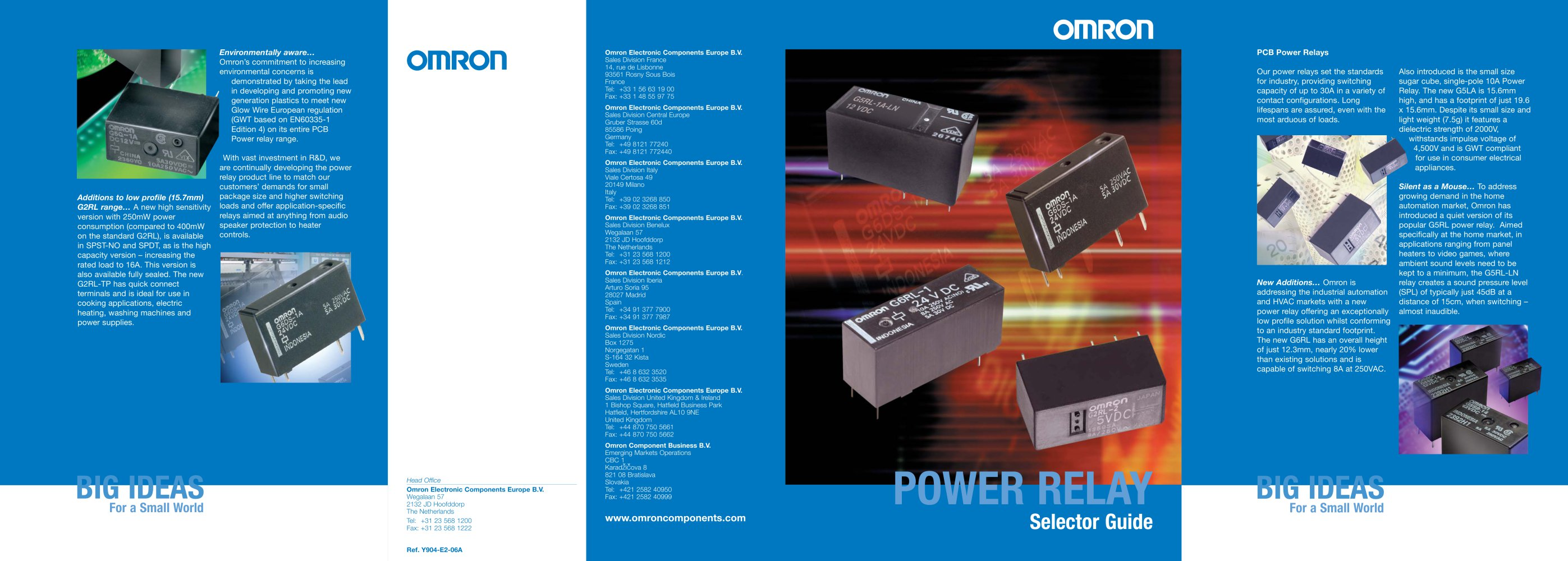 Power Relay Product Brochure Omron Electrical Components Pdf Electric Uses 1 2 Pages