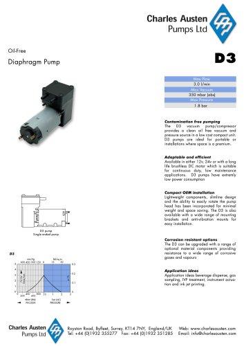 D3 Vacuum Pump / Compressor